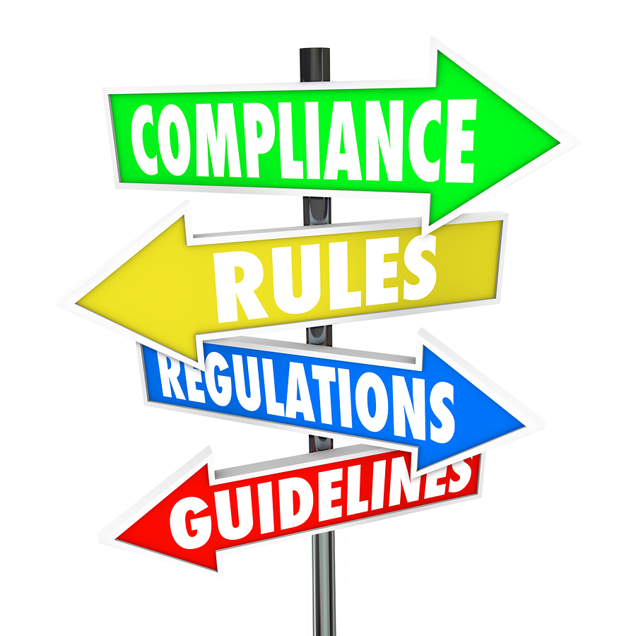 compliance rules guidance street sign